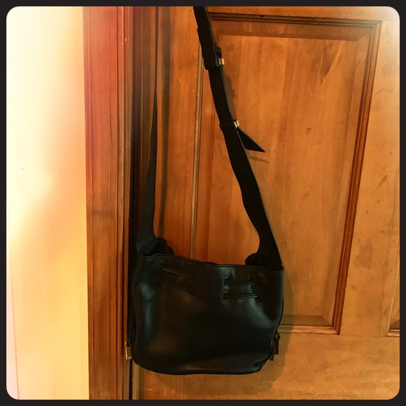 9b99441334f Halston Heritage Bags   Black Leather Crossbody   Poshmark